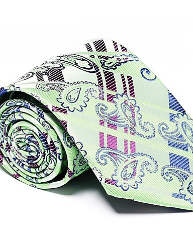 Men's Party Work Basic Polyester Necktie - Striped
