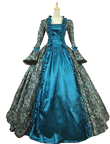 8bbac028771 Cinderella Goddess Rococo Medieval Renaissance Costume Women s Cosplay  Costume Masquerade Blue Vintage Cosplay Satin Party Prom Ball Gown Plus  Size ...