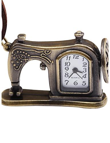 Men's Women's Pocket Watch Mechanical manual-winding Creative Hot Sale Leather Band Analog Vintage Brown - Bronze