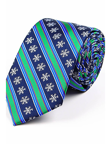 Men's Stripes Polyester Necktie - Jacquard / All Seasons