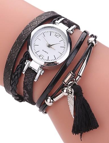 0139db64f Women's Bracelet Watch Simulated Diamond Watch Diamond Watch Quartz Quilted PU  Leather Black / White / Blue Imitation Diamond Analog Ladies Charm Casual  ...