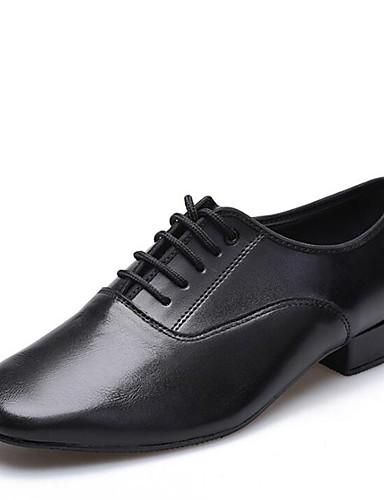 74e581166db Ανδρικά Παπούτσια χορού λάτιν Δέρμα Τακούνια Χαμηλό τακούνι Παπούτσια Χορού  Μαύρο / Εσωτερικό