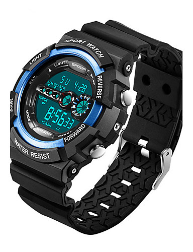 Men's / Women's Sport Watch / Military Watch / Smartwatch Chinese Alarm / Calendar / date / day / Chronograph Silicone Band Charm / Luxury / Casual Black / Slide Rule / Water Resistant / Water Proof