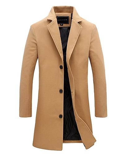 fcaf72eb8e3a Χαμηλού Κόστους Ανδρικά μπουφάν και παλτό-Ανδρικά Πάρτι   Καθημερινά Απλός    Καθημερινό Φθινόπωρο