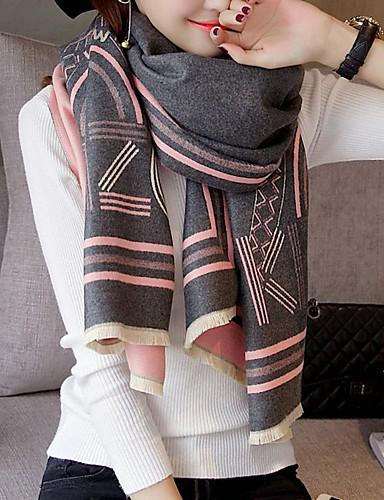 Women's Imitation Cashmere Rectangle - Striped