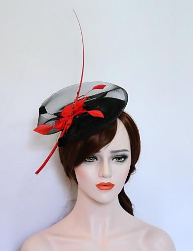 abordables Chapeau & coiffure-Molleton / Plume Fascinators / Chapeaux avec 1 Mariage / Fête / Soirée Casque