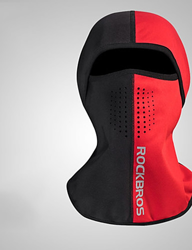 cheap Cycling Clothing-ROCKBROS Balaclava Solid Color Windproof Fleece Lining Warm Bike / Cycling Black / White Black / Red Grey Spandex Fleece Winter for Men's Adults' Bike / Cycling Solid Color / Mountain Bike MTB