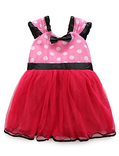 Sukienka Poliester Dziewczyny Jendolity kolor Bez rękawów Urocza Fuchsia