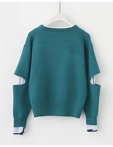 Damen Langarm Pullover - Solide / Herbst / Winter