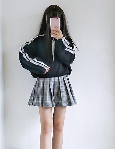 Damen Pullover Ausgehen Solide Mikro-elastisch Baumwolle Herbst