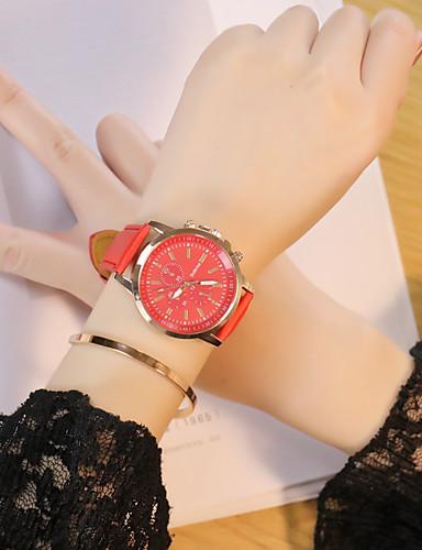 Męskie Damskie Kwarcowy Zegarek na nadgarstek Chiński Na codzień PU Pasmo Na co dzień Czarny Biały Czerwony Brązowy