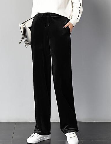 Damen Hose Breites Bein Hose Solide