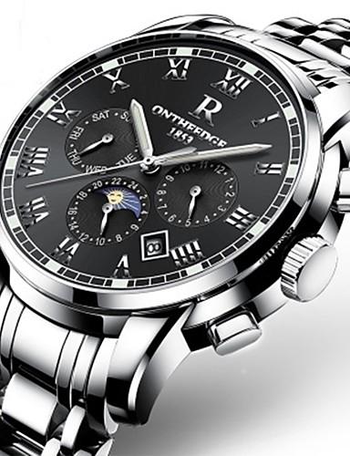 Męskie Nakręcanie automatyczne Pudełka na zegarki Otwieraki do zegarków zegarek mechaniczny Zegarek na nadgarstek Zegarek na bransoletce