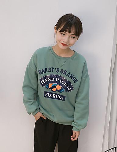 Damen Pullover Lässig/Alltäglich Buchstabe Baumwolle
