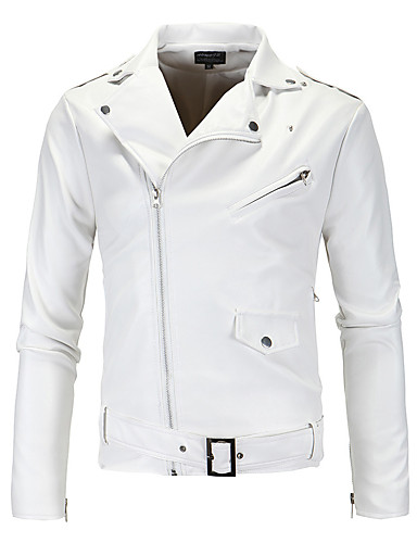 15c427704aa48 Men s Daily   Weekend Street chic   Punk   Gothic Fall   Winter Short  Leather Jacket