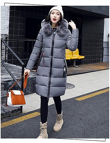 Damen Gefüttert Mantel Freizeit Ausgehen Solide Buchstabe-Andere Langarm