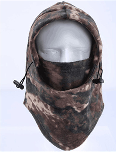 cheap Cycling Clothing-Balaclava Windproof Warm Antistatic Soft Bike / Cycling Brown Army Green Grey Polyester Winter for Men's Women's Adults' Mountain Bike / MTB Road Cycling Cycling / Bike Motobike / Motorcycle