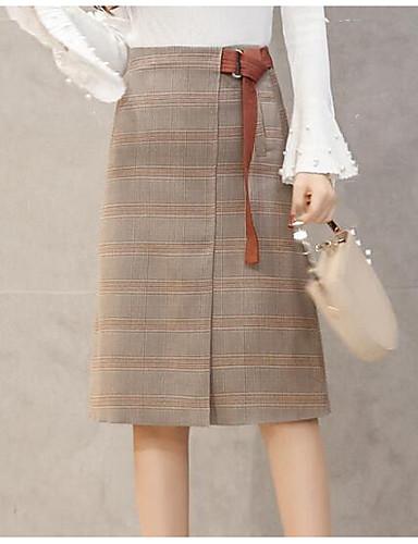 Damen Knielänge Röcke A-Linie