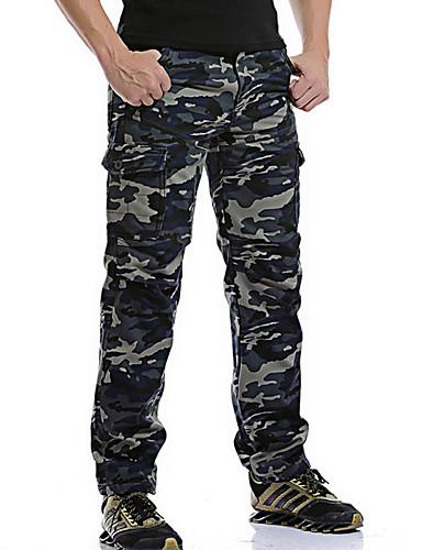 8dfa4f43ff4e Ανδρικά Μεγάλα Μεγέθη Βαμβάκι Παντελόνια   Chinos Παντελόνι - καμουφλάζ  Θαλασσί 34   Χειμώνας