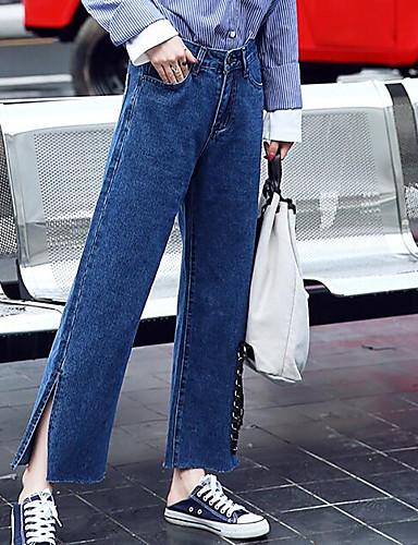 Damen Hose Mikro-elastisch Jeans Hose,Polyester Solide