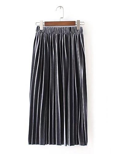 Damen Asymmetrisch Röcke einfarbig