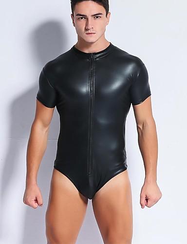 Homens Super Sexy Camiseta Interior Sólido