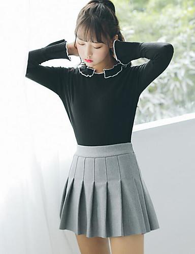 Damen Freizeit Schultaschen Mini Röcke Herbst
