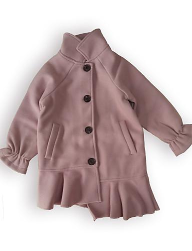 Kurtka / płaszcz Bawełna Dla dziewczynek Jendolity kolor Długi rękaw Blushing Pink
