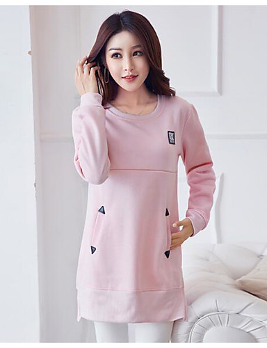 Damen Pullover Lässig/Alltäglich Druck Andere