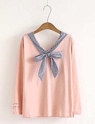 Damen Pullover Ausgehen Lässig/Alltäglich Niedlich Aktiv Solide Mikro-elastisch Baumwolle