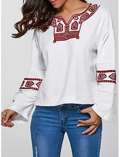 Damen Pullover Lässig/Alltäglich Gestreift Mikro-elastisch Acryl Herbst