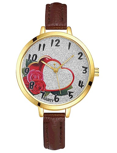Damskie Kwarcowy Zegarek na nadgarstek Chiński Duża tarcza PU Pasmo Na co dzień Kolorowy Elegancki Czarny Biały Niebieski Czerwony