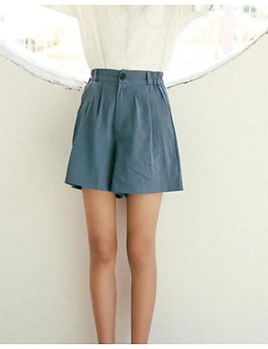 Damen Street Schick Mittlere Hüfthöhe Mikro-elastisch Kurze Hosen Hose Sommer Solide