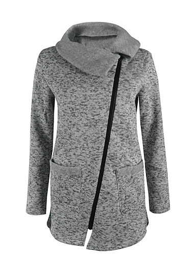 Damen Pullover Alltag Festtage Solide Polyester