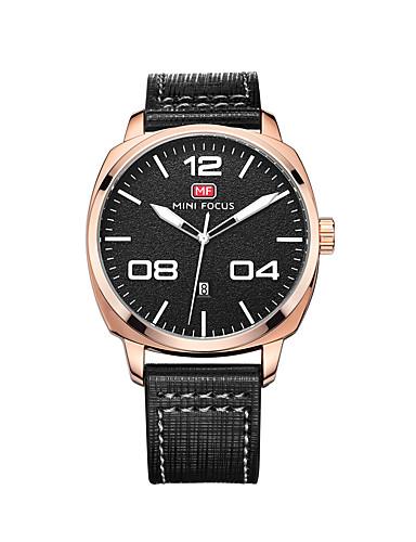 Męskie Kwarcowy Zegarek na nadgarstek Kalendarz Wodoszczelny Skóra Pasmo Na co dzień Modny Czarny Brązowy
