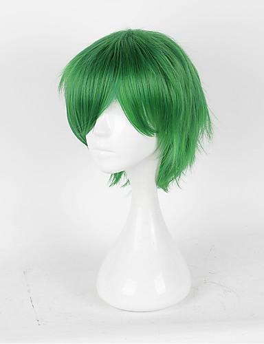 voordelige Cosplay Pruiken-Prince of Tennis Hajime Mizuki Cosplaypruiken Heren Dames 14 inch(es) Hittebestendige vezel Groen Anime