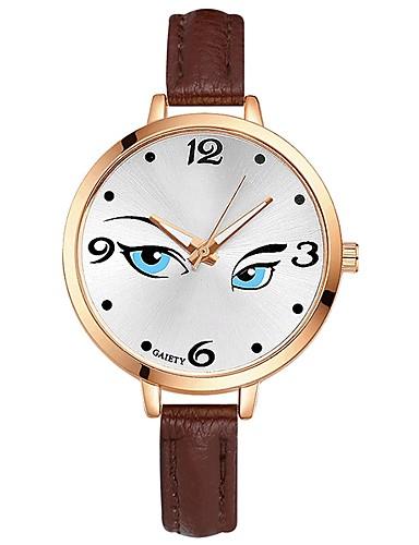 Damskie Kwarcowy Zegarek na nadgarstek Chiński Duża tarcza PU Pasmo Na co dzień Kolorowy Elegancki Biały Niebieski Czerwony Brązowy