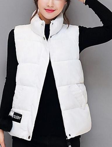 Damen Gefüttert Mantel Niedlich Freizeit Alltag Ausgehen Solide-Polyester Ärmellos