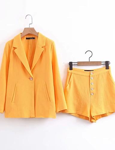 Damen Solide Einfach Aktiv Lässig/Alltäglich Ausgehen Hose Anzüge Mikro-elastisch