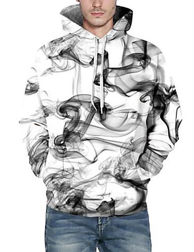 Męskie Rozmiar plus Długi rękaw Bluzy z kapturem i bluzy Nadruk Kaptur