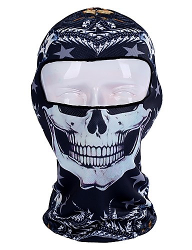 cheap Cycling Clothing-Nuckily Balaclava Windproof Sunscreen Cycling 3D Breathability Bike / Cycling Blue Black / White Black+Sliver Polyester Mesh Winter for Men's Women's Adults' Camping / Hiking Ski / Snowboard Outdoor