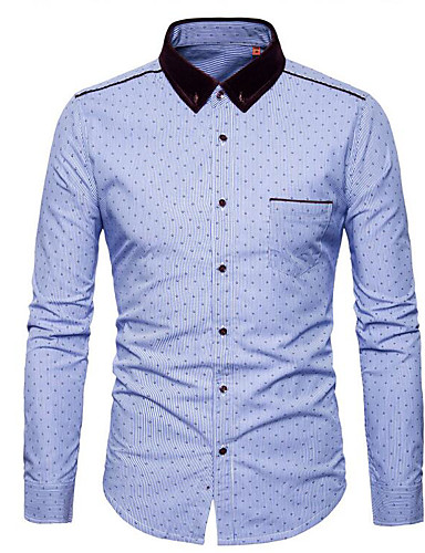 Pánské Puntíky Jdeme ven Běžné/Denní Čínské vzory Košile Polyester Košilový límec Dlouhý rukáv