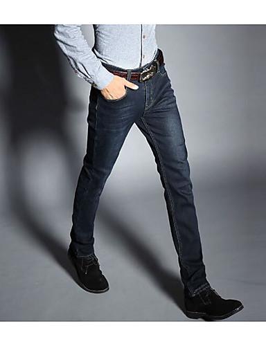 Męskie Prosta Spodnie - Ćwiek, Jendolity kolor