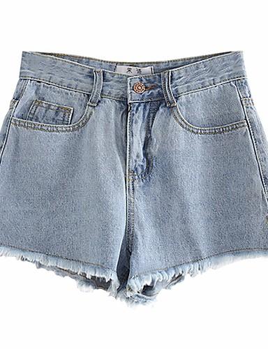 בגדי ריקוד נשים וינטאג' שורטים מכנסיים - גיזרה גבוהה אחיד / קיץ