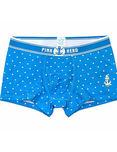 בגדי ריקוד גברים סטרצ'י (נמתח) פרח - בינוני (מדיום) בוקסר(כותנה)1 פול לבן כחול נייבי