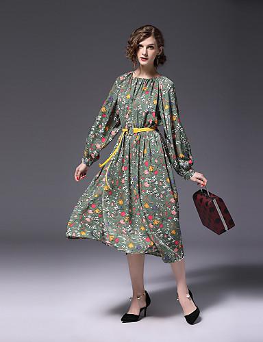 בסיסי, פרחוני - שמלה נדן עבודה בגדי ריקוד נשים