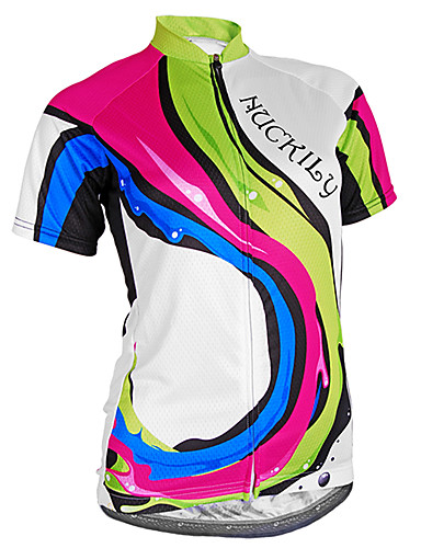 cheap Cycling Clothing-Nuckily Women's Short Sleeve Cycling Jersey - Camouflage Bike Jersey Top Breathable Ultraviolet Resistant Reflective Strips Sports Polyester Lycra Mountain Bike MTB Road Bike Cycling Clothing Apparel