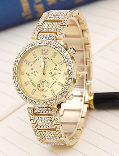 58f9e1e710c Mulheres Relógio Esportivo Quartzo Dourada   Ouro Rose Relógio Casual Legal  Analógico senhoras Luxo Casual Fashion Colorido - Dourado Ouro Rose