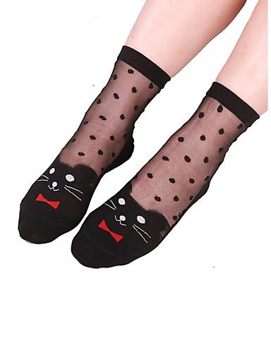 בגדי ריקוד נשים דק גרביים-סרוג,סגנון פרחוני