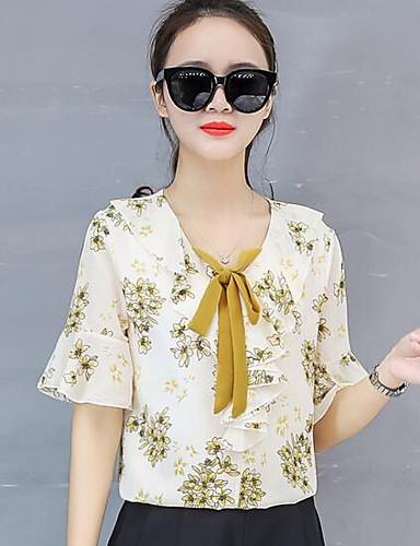 blusa suelta de poliéster para mujer - floral aeb2e893561